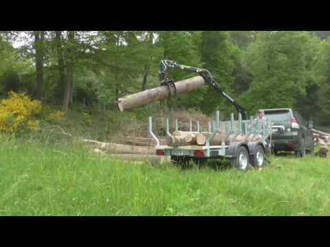 PKW-Forstanhänger mit 4 m Kran  von Feige Forsttechnik, Nr.1