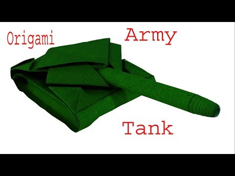 How to make an origami Tank Origami Paper tank for kids and Beginners Easy Origami Step by Step