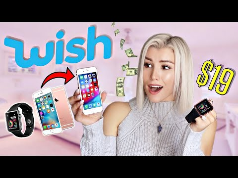I Bought A REAL IPhone & Apple Watch From WISH! + GIVEAWAY
