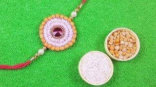 Handmade Rakhi Design 2019 - आसान राखी बनाना सीखे - Easy Rakhi Making at Home - Eco friendly Rakhi