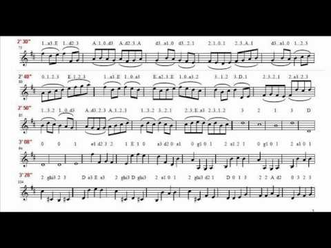 Pachelbel  - Canon in D - Music Paper