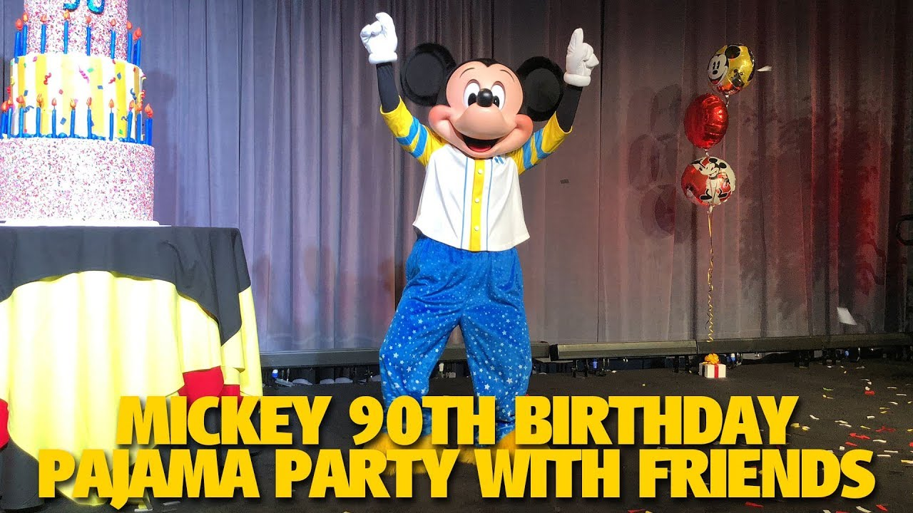 Mickey Pals In Pajamas For Mickeys 90th Birthday Celebration