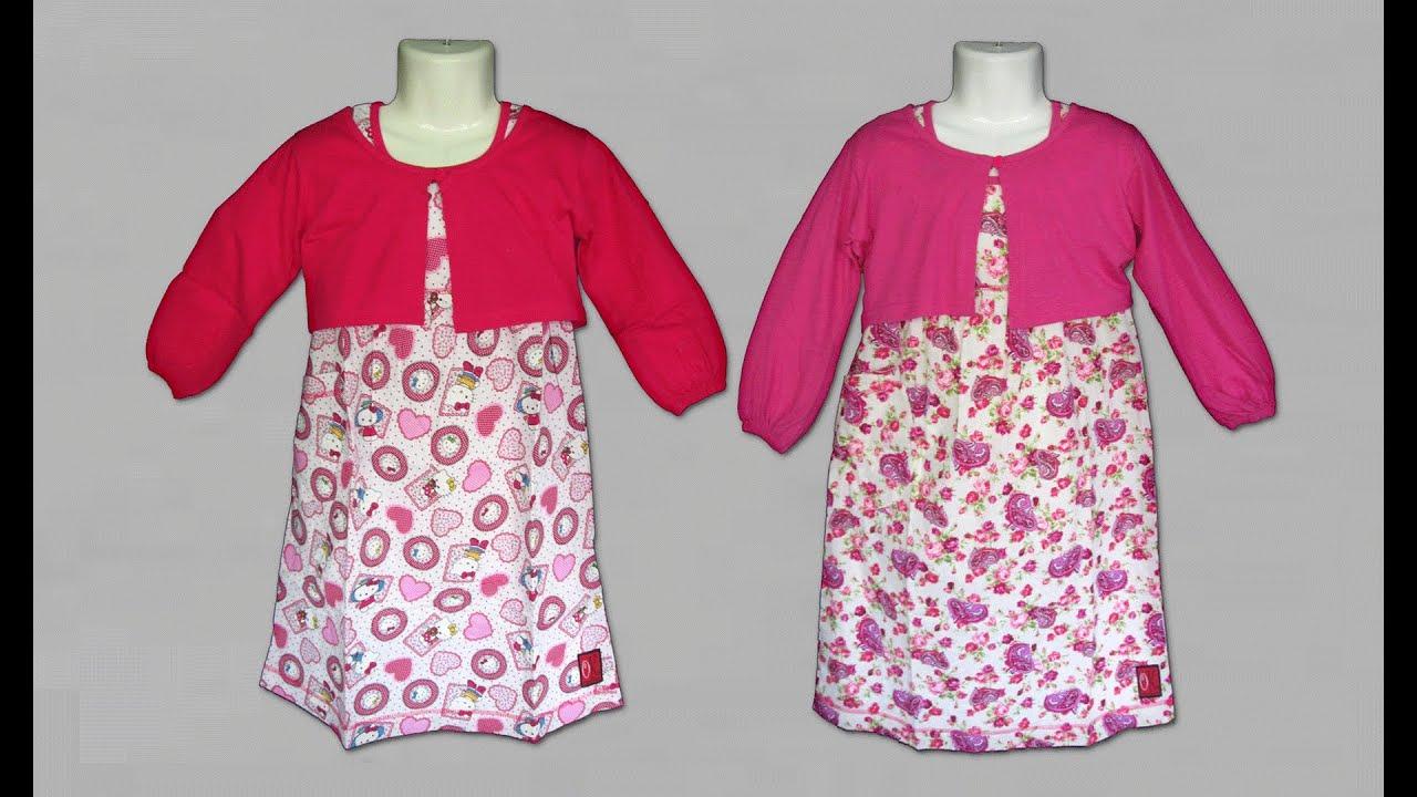 Baju Muslim Gamis Anak Perempuan Model Bolero Cardigan