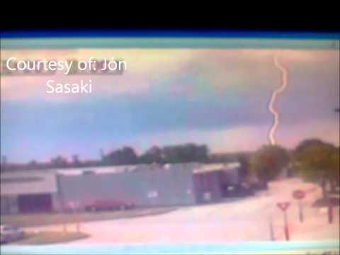 Slowed Down Lightning Caught On PTZ June 24 2011