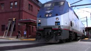 Amtrak variety at New London 7-6 (Acela, SLE & Regional)