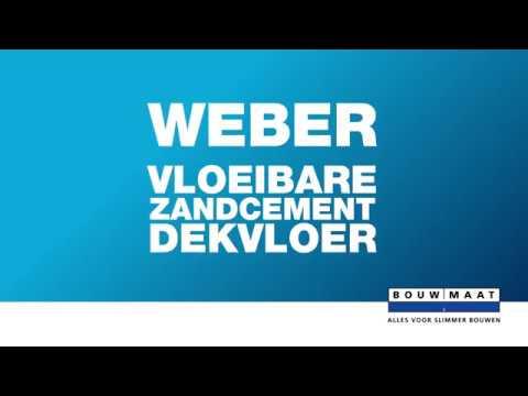 Bouwmaat legt uit! Storten Weber Vloeibare Zandcement dekvloer