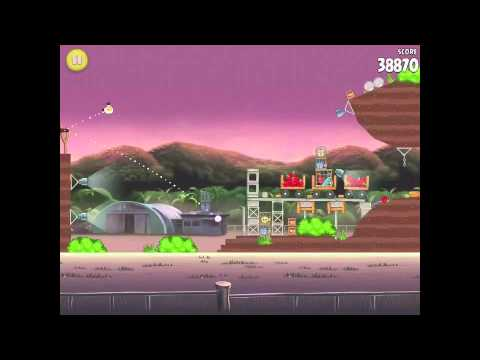 Angry Birds Rio Level 29 (10-14) Airfield Chase 3 Star Walkthrough
