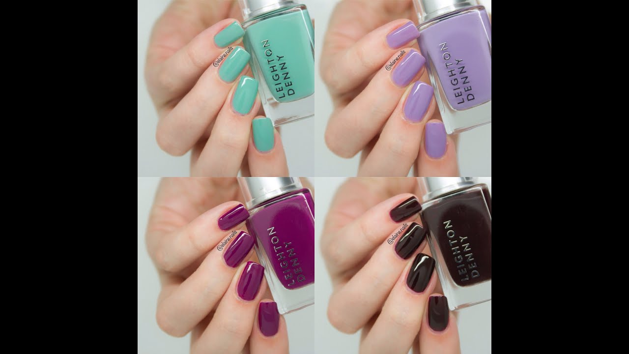 Free Leighton Denny with Harpers Bazaar Live Swatches - YouTube