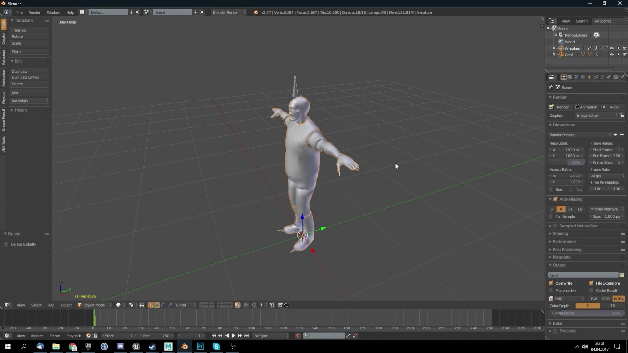 Unity Character Rig to Unreal Engine 4 Rig