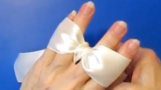 как сделать простой бантик из ленты своими руками