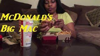 MUKBANG/ASMR | McDONALD'S BIG MAC MEAL + EATING SOUNDS + SMALL TALK #MUKBANG/ASMR