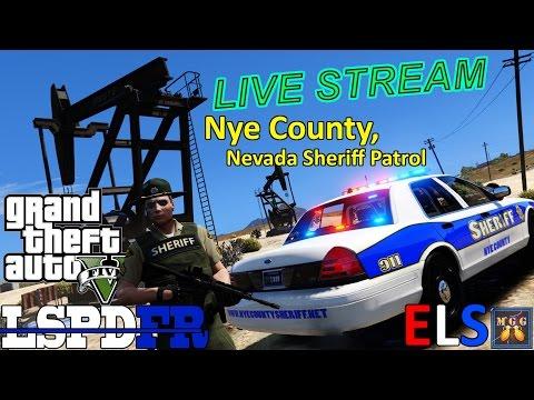 Nye County, Nevada Sheriff Patrol GTA 5 LSPDFR Live Stream 73