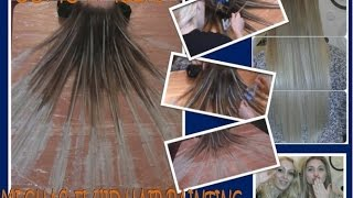 como hacer mechas fluid hair painting