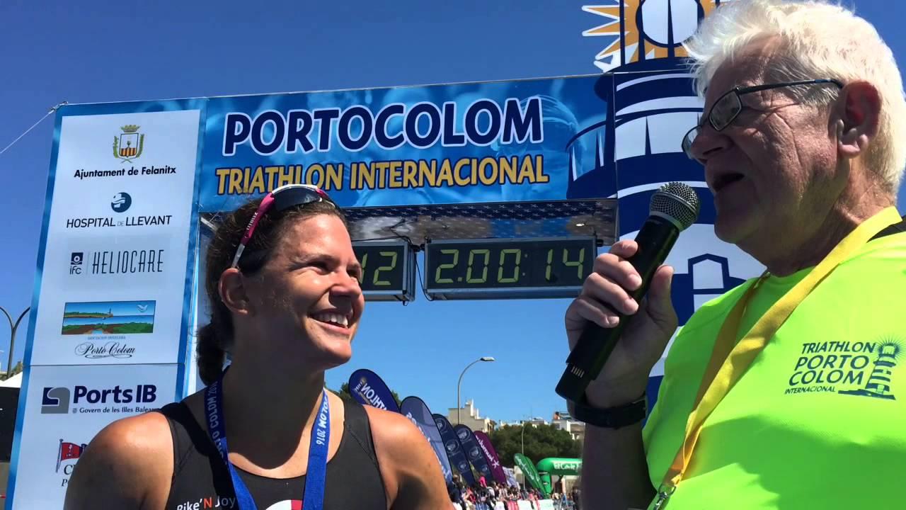 Emma Bilham, Female Winner Of The Triathlon De Portocolom 111 2016