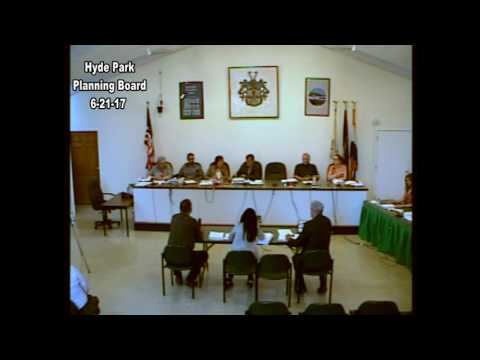 Hyde Park Planning Board 6-21-17