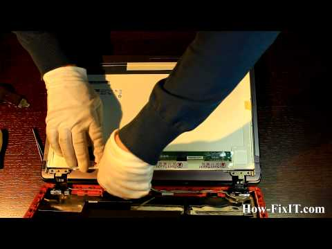 Lenovo Y570 Screen Replacement, замена матрицы ноутбука
