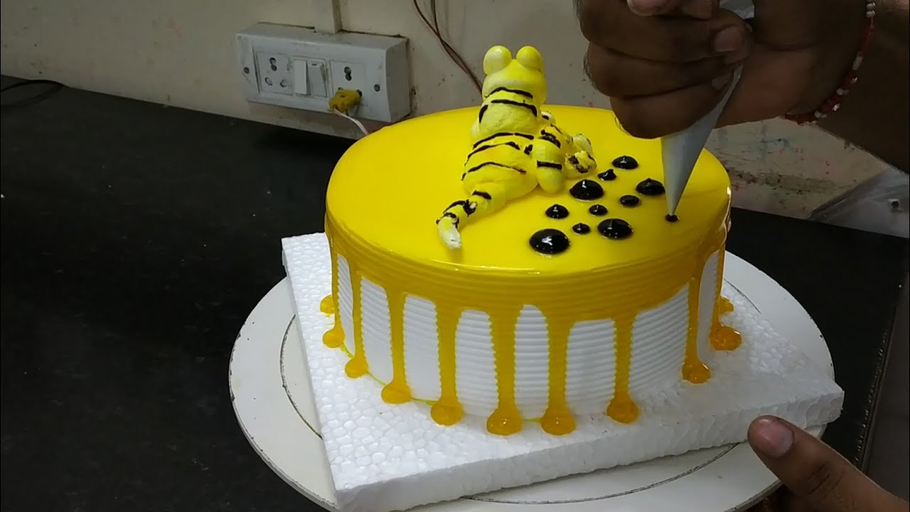 Top 10 Cake How To Make Pineapple Jelly Lion Decoration Cake By All Super Cake Youtube