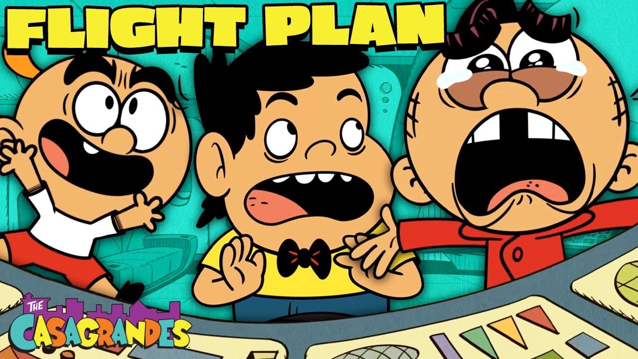 Carl Sneaks On A Plane! 'Flight Plan' | The Casagrandes