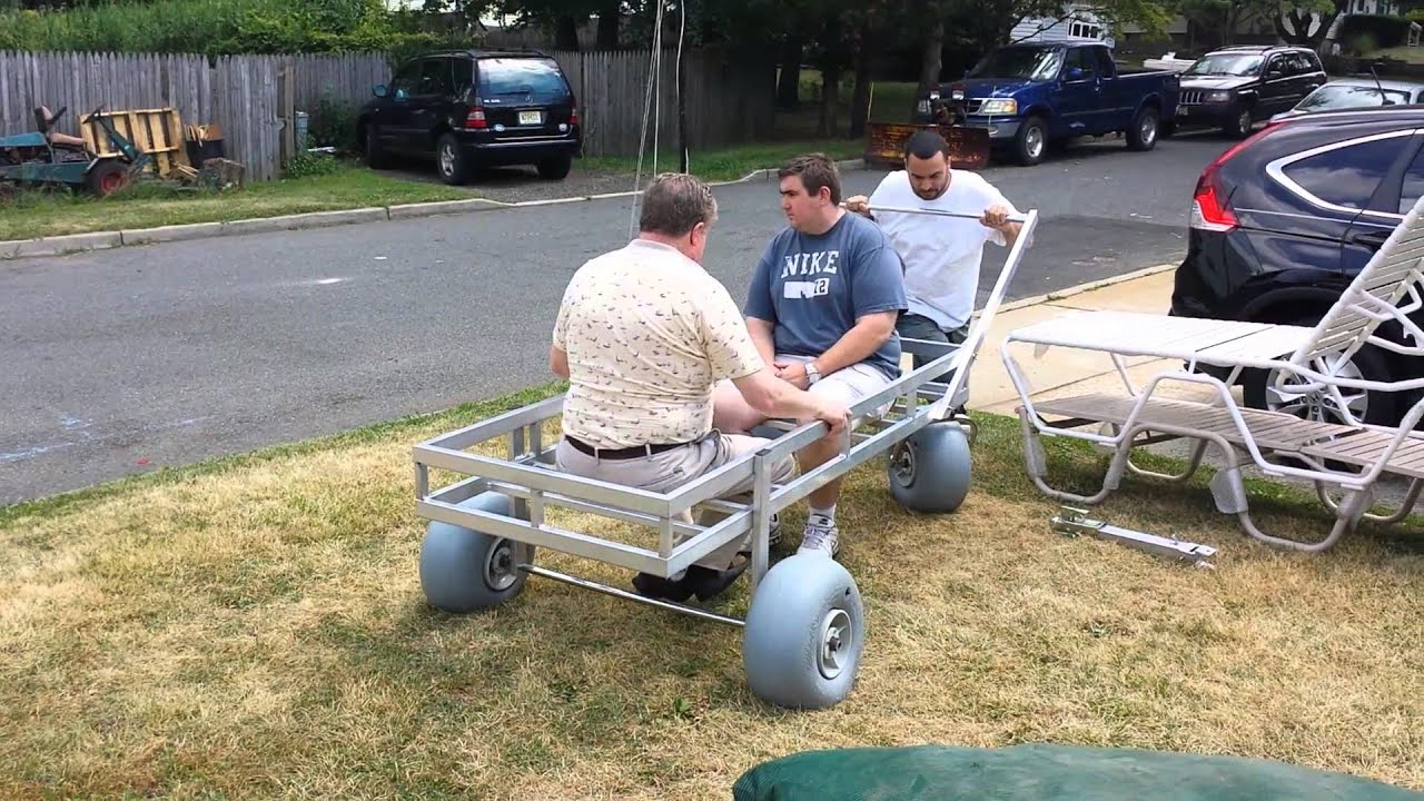 All Terrain Beach Cart - YouTube