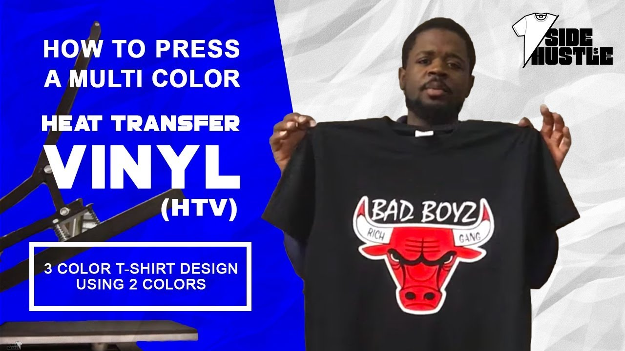 How To Press A Multi Color Heat Transfer Vinyl Htv