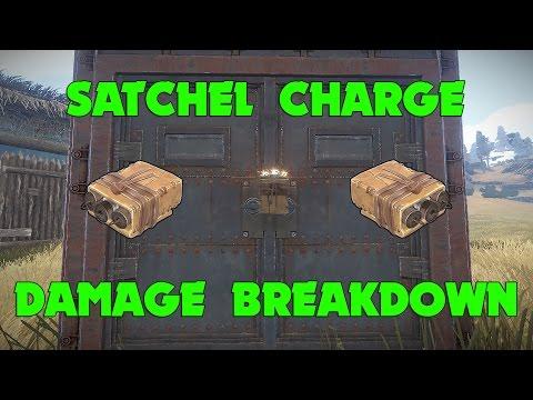 Rust - Satchel Charge Damage Breakdown - YouTube Rust Metal Door Satchel on