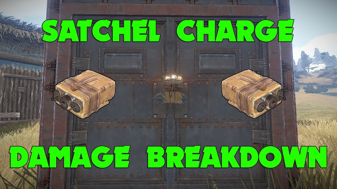 Rust - Satchel Charge Damage Breakdown