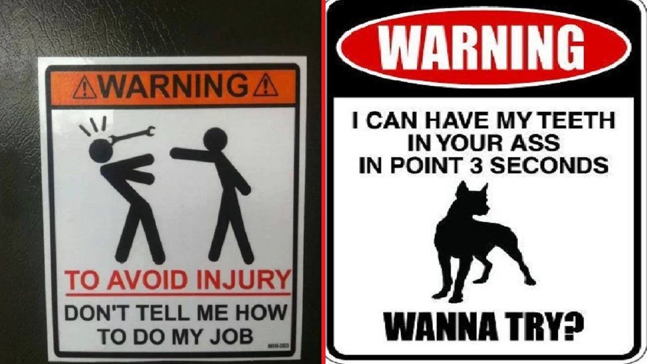 funny warning signs that made the world a funnier place youtube