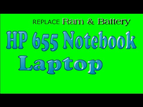 How To Remove And Replace  Ram And Battery For HP 655 Notebook Laptop