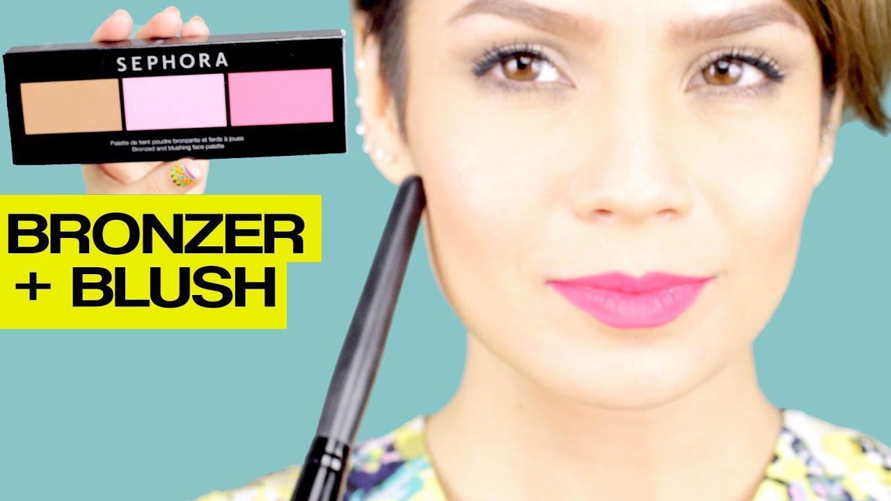 Como aplicar el rubor y el bronzer - How to apply bronzer and blush ...
