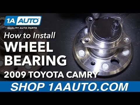 How to Install Replace Very Rusty Stuck Rear Bolt In Wheel Bearing Hub Assembly 2005 11 Toyota Camry