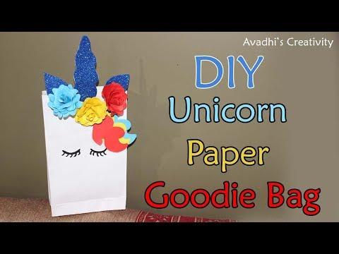 DIY- Unicorn Goodie Bag - Unicorn party Bag - Unicorn Gift Bag- Unicorn Paper Bag