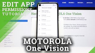 How to Enter App Permission in Motorola One Vision - Control App Permits