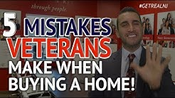 5 Mistakes Veterans make when Buying a Home