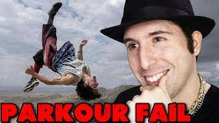 PARKOUR EPIC FAIL COMPILATION - PARODIA REACTION