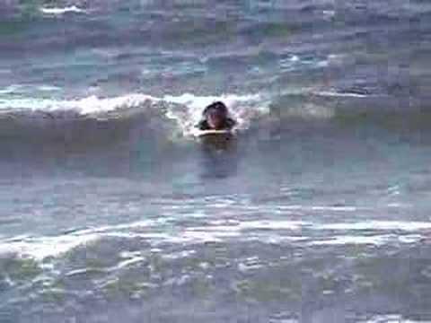 Jon Tojek surfing in Santa Monica CA