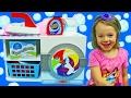 Melissa & Doug Laundry Playset + KidKraft Wooden Washer & Dryer Clean Disney Princess Elena Barbie