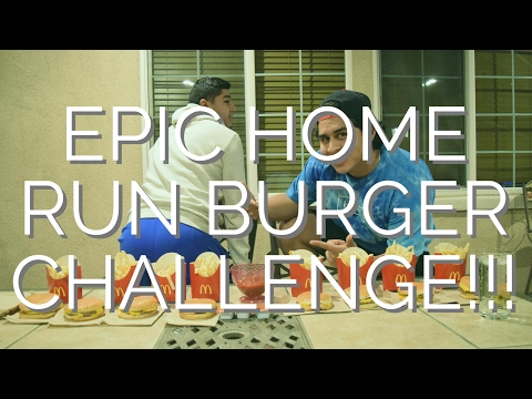 HOME RUN BURGER CHALLENGE WITH MY COUSIN!!!