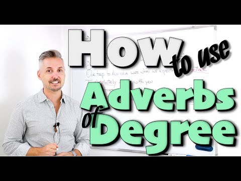 How to use adverbs of degree (AVVERBI Inglesi - INGLESE facile)