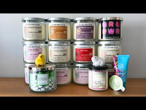 Test Lab & Spring Bath & Body Works Haul - Exotic Lychee, Thai Coconut Basmati Candles + More