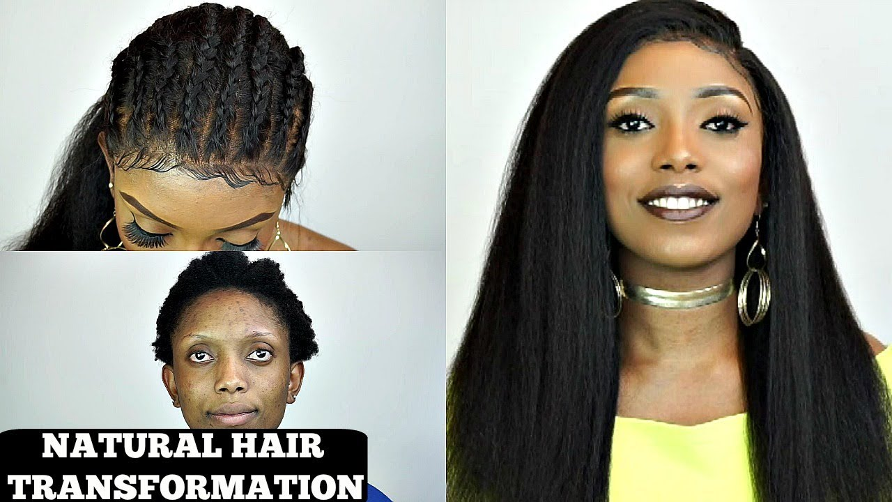 Natural Hair Protective Style Cornrow On Kinky Lace Wig Best Lace