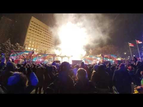 2017 Happy New Year-Olympic Plaza Calgary