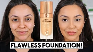 CHARLOTTE TILBURY AIRBRUSH FLAWLESS FOUNDATION FIRST IMPRESSION REVIEW - TrinaDuhra