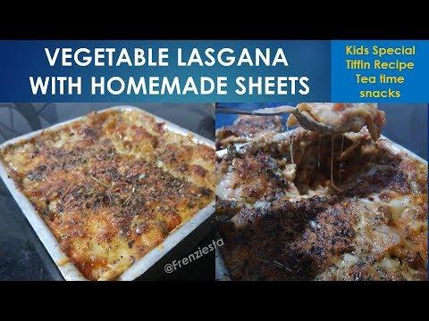 Easy Vegetable Lasagna Recipe With White Sauce|| Frenziesta|| Sonia Batra