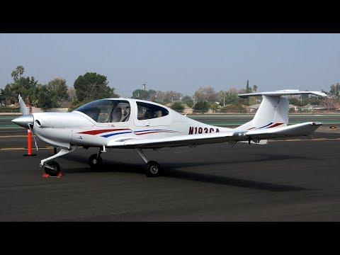 Flight in Diamond DA40 Diamond Star at San Gabriel Valley Airport in El Monte CA.