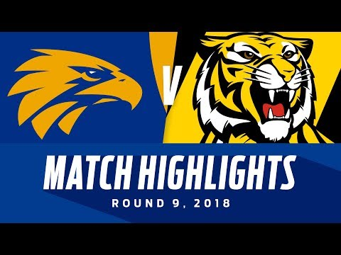 Match Highlights: West Coast v Richmond | Round 9, 2018 | AF