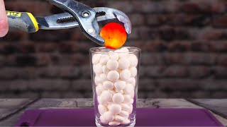 1000 DEGREE METAL BALL VS MENTOS - EXPERIMENT