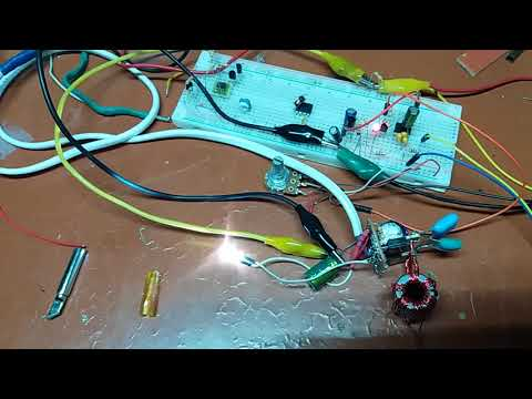 Induction heated soldering iron #1