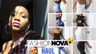 SKINNY GIRL REVIEW of Fashion Nova 2018 Clothes (Try-on Haul)-jumpsuits,dress,romper | Annesha Adams