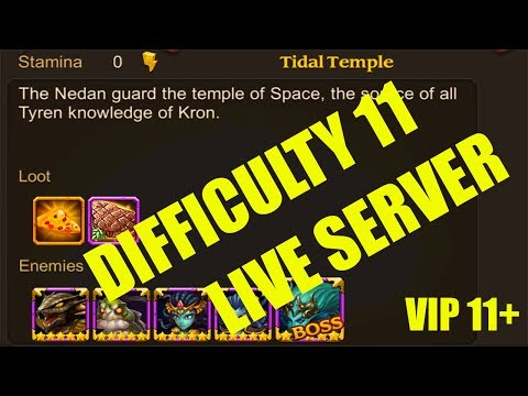 Heroes Charge : Time Rift : Tidal Temple Difficulty 11 (LIVE Server VIP 11+)