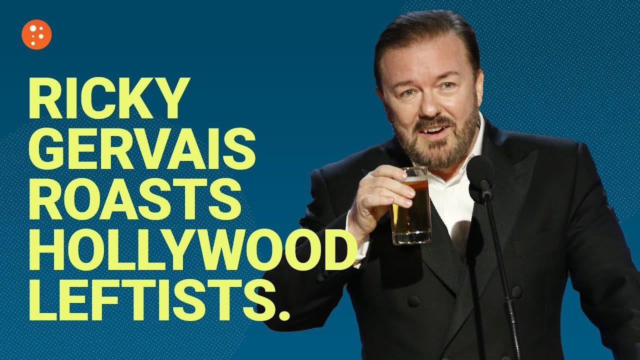 Ricky Gervais Roasts Hollywood Leftists